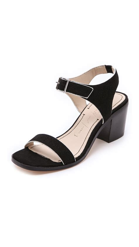 low heel sandal elizabeth and ryann low heel sandals in black lyst