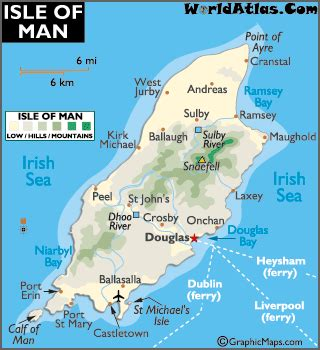 map of the isle of man and isle of man map and information