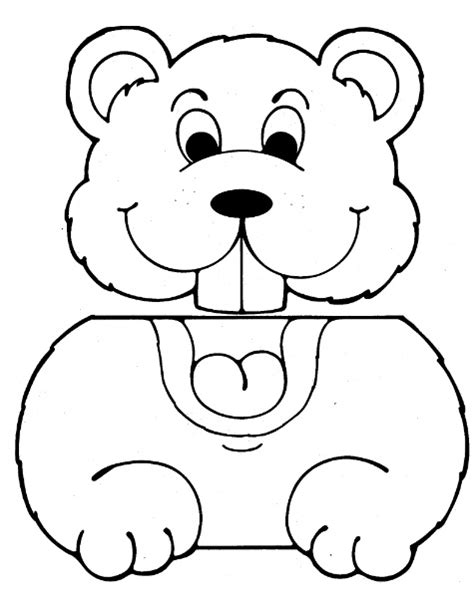 groundhog template best photos of groundhog cut out pattern for preschoolers