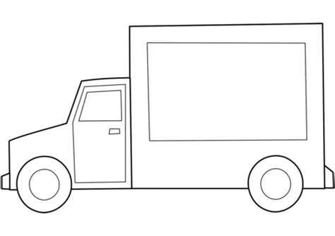 Simple Dump Truck Coloring Pages by Simple Truck Coloring Page Free Printable Coloring Pages