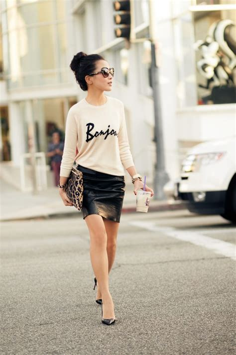 15 pretty ideas to glam your leather skirts pretty designs