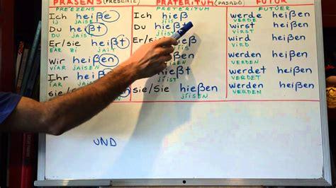 aleman simple aprender aleman 16 verbos en aleman hei 223 en