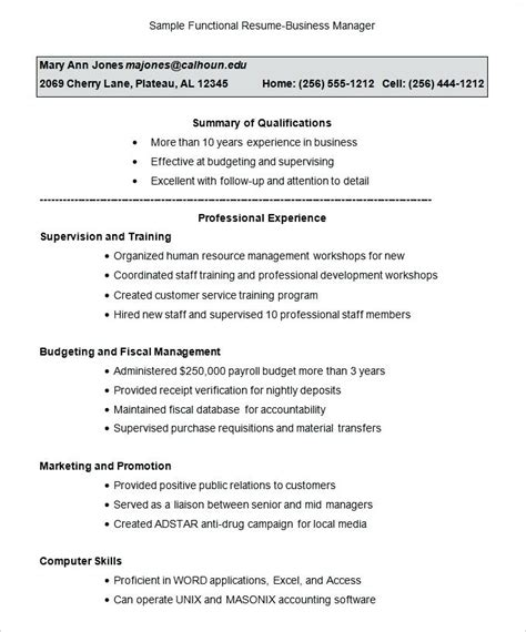 Career Change Resume Templates by Functional Resume Template For Career Change Combined