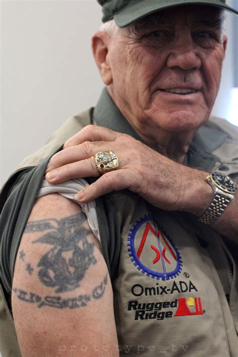 marine corp tattoos at sema 2014 r ermey metal jacket showed me