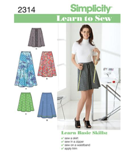 patterns sewing joannes simplicity pattern 2314 learn to sew misses skirts pants