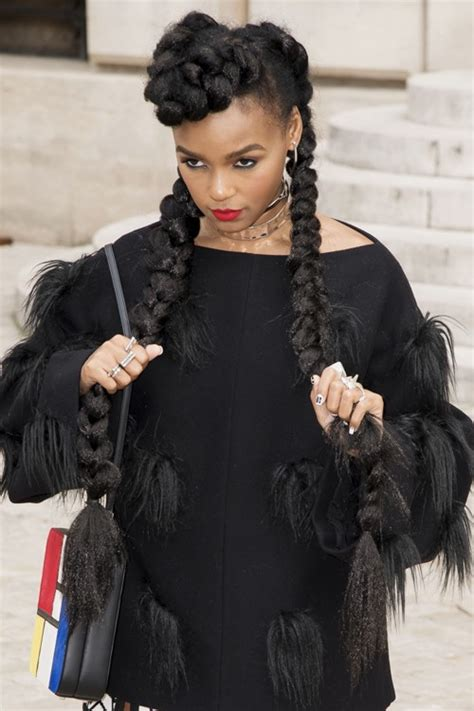 Janelle Monae Hairstyle by Janelle Monae Hairstyle With Braids Www Pixshark