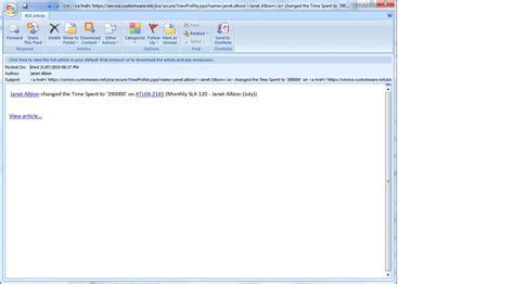 format email for html jraserver 21832 not able to render html format of email