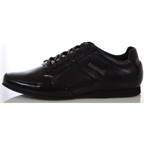 bambooa trento black leather mens designer casual shoes