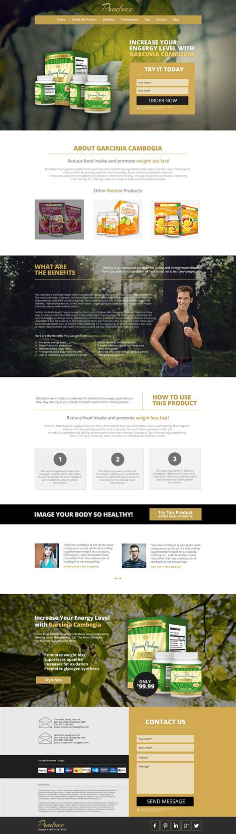 product landing page template vector image 365psd com