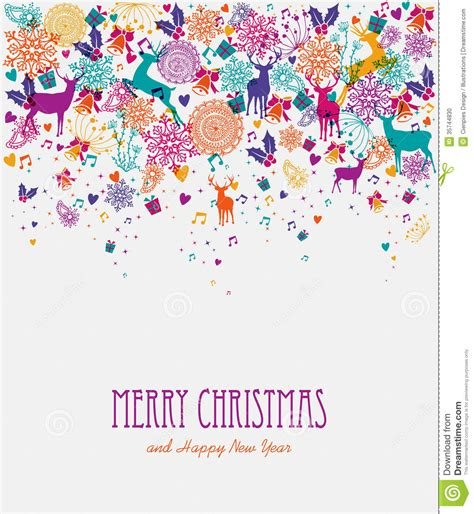 colorful card background design elements free vector in merry christmas colorful greeting card stock photo image