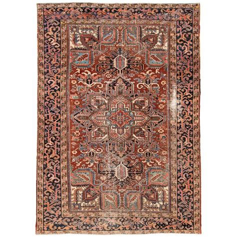 Distressed Rugs For Sale - antique distressed heriz rug for sale at 1stdibs