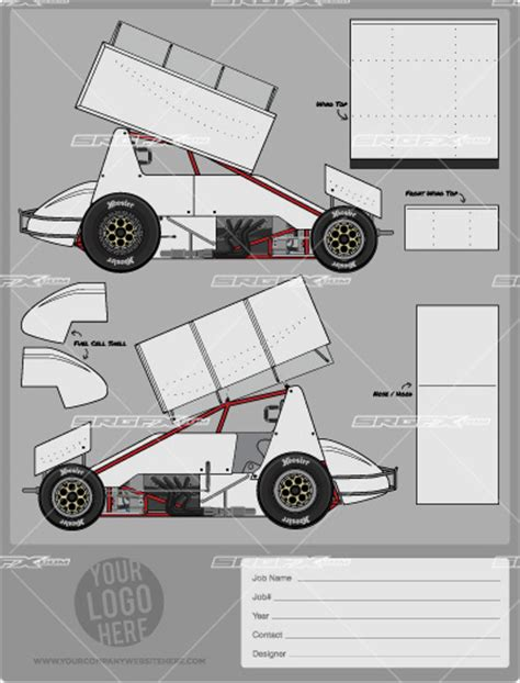 race car template sprint car template srgfx