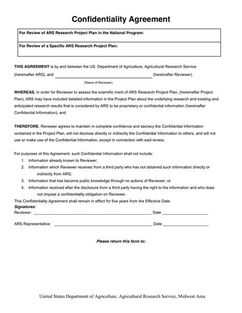Secrecy Agreement Template by Osqr Confidentiality Agreement In Word And Pdf Formats