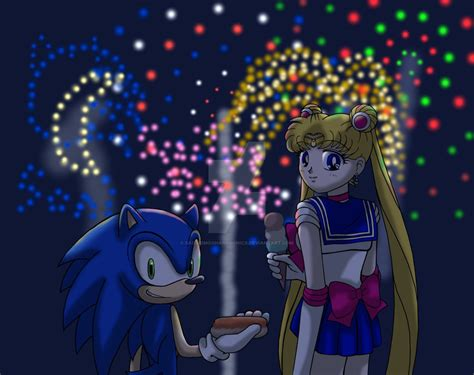 sonic day sonic and sailor moon independence day by sailormoonandsonicx on deviantart