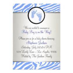 blue baby shower custom invitation zazzle