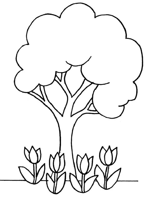 Tree Color Page Az Coloring Pages Tree With Coloring Page