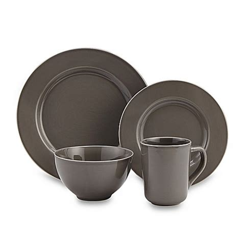 bed bath and beyond plates real simple 174 dinnerware in smoke bed bath beyond
