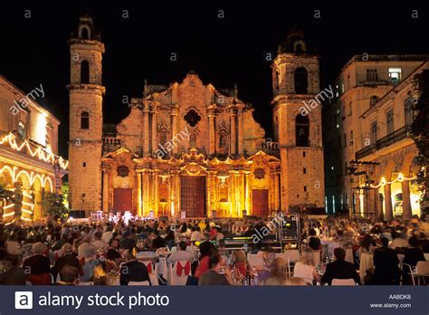 new year s in plaza de la catedral cuba stock