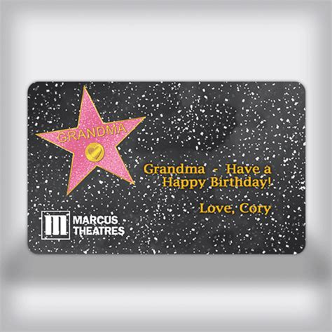 Grandma Gift Cards - marcus theatres custom movie gift card grandma edition
