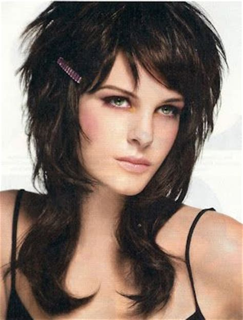 layered haircuts from the 80s rocker style shag hair 80s shag hairstyles http