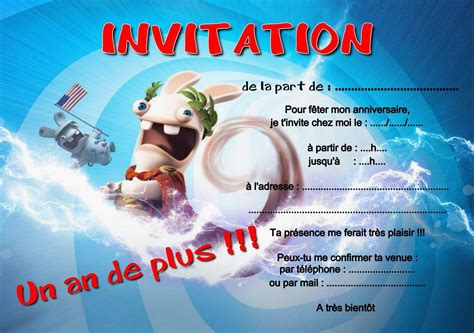 carte invitation anniversaire gratuite carte invitation