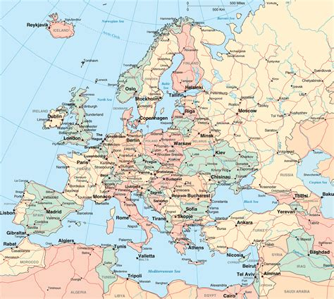 map of europe with cities europe map region country map of world region city