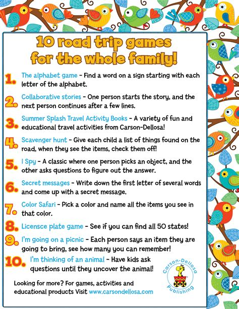 printable games to play in the car over 20 fun road trip ideas for kids 3 boys and a dog