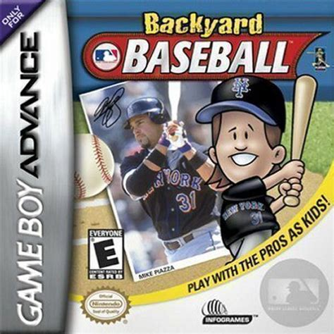 Backyard Baseball Gameboy Advance Backyard Baseball Gba Rom Complete Roms