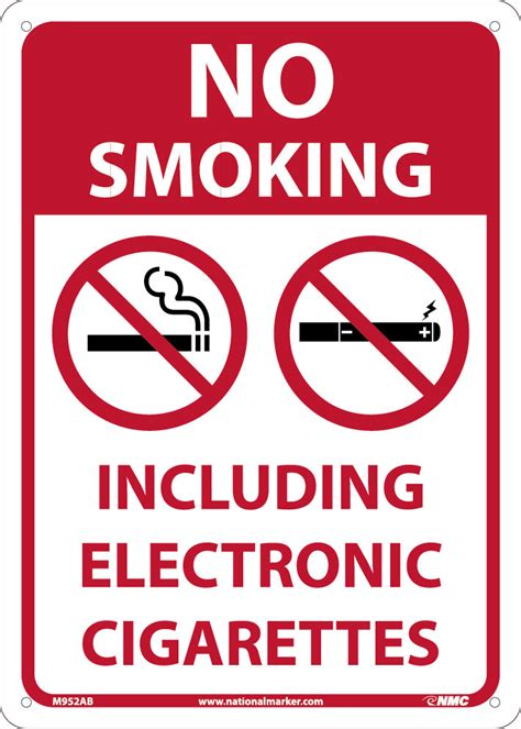 no smoking sign without cigarette no smoking including electronic cigarettes 14x10