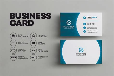 Modern Business Card Template Business Card Templates Creative Market Business Card Template
