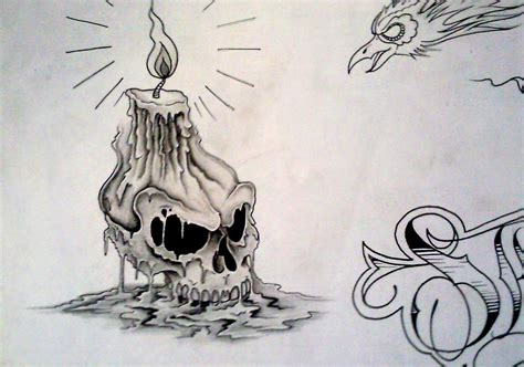 candle tattoo designs candle melting on skull design ideas