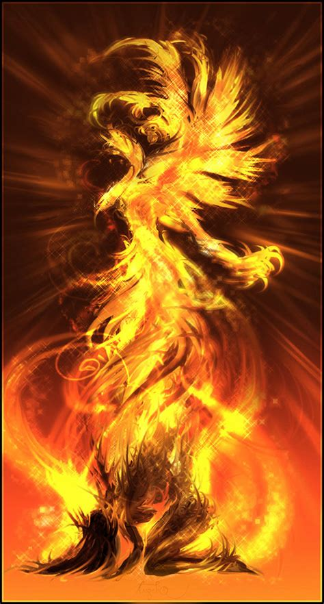phoenix artworks  flaming bird design