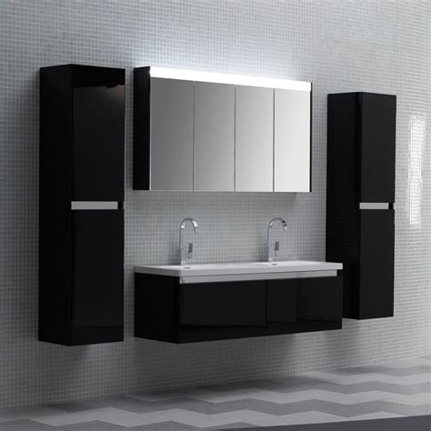 black bathroom vanity unit lusso designer bathroom wall mounted