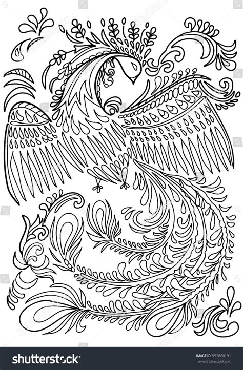 Boho Bird Coloring Page Book For Adults Fantastic Black White