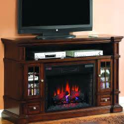 belmont 60 inch electric fireplace media console caramel