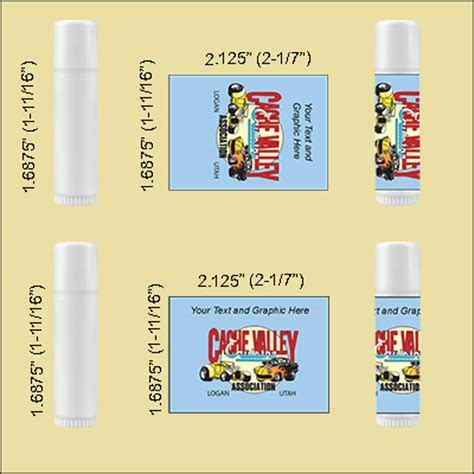 lip balm tube labels
