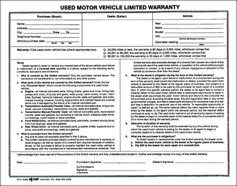 used car warranty template image collections templates