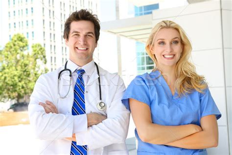 doctor and nurse doctor and nurse at hospital stock photo 169 stephen coburn