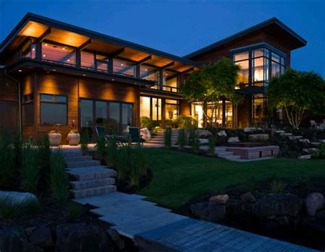 beside lake modern wooden house design olpos design lake house interior design architecture furniture house