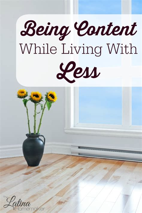 living with less being content while living with less