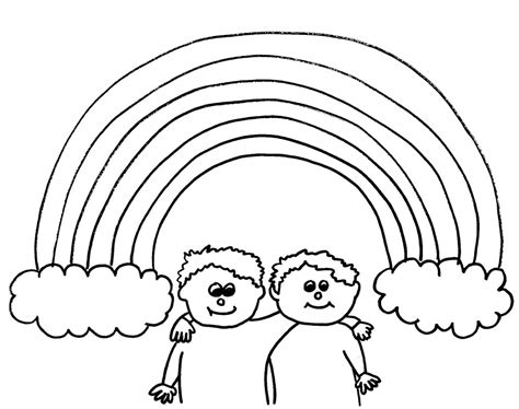 coloring pages of rainbows to print free printable rainbow coloring pages for kids