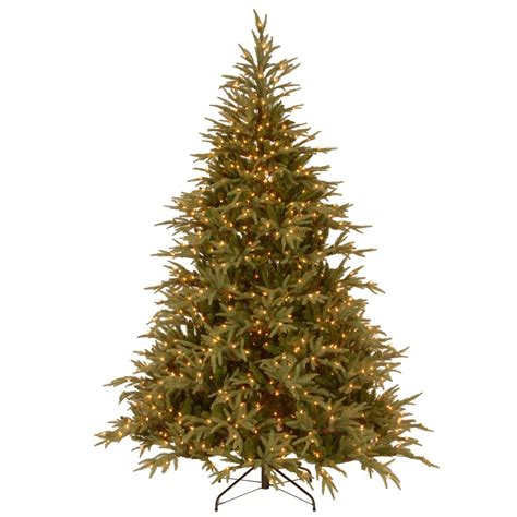 big 75 8 artificial christmas tree national tree company 7 1 2 ft feel real fraser grande hinged artificial tree with
