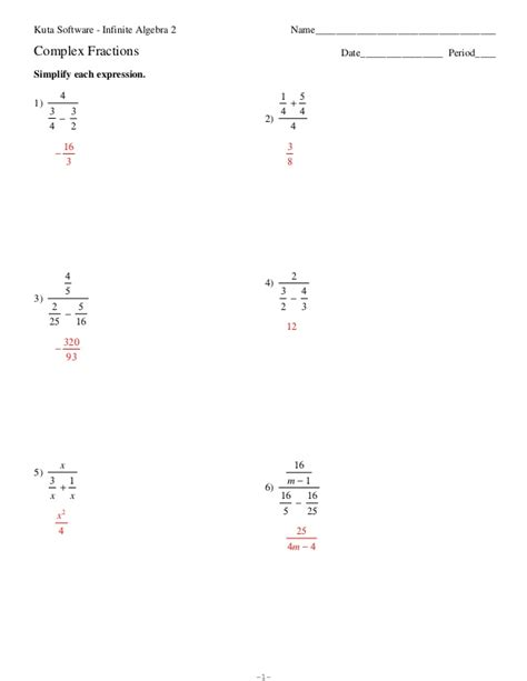 Complex Fractions Worksheet 7th Grade by Pictures Complex Fractions Worksheets Dropwin