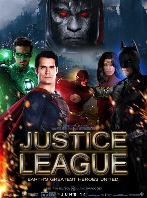 justice league en film justice league movie poster by chemicalmarcel on deviantart
