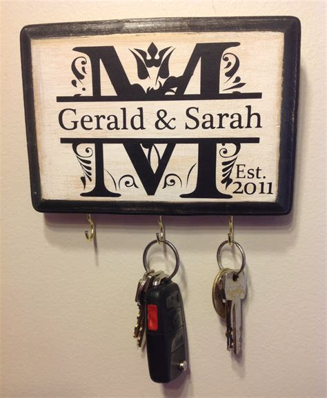 personalized gifts personalized wedding gift monogram key holder awesome