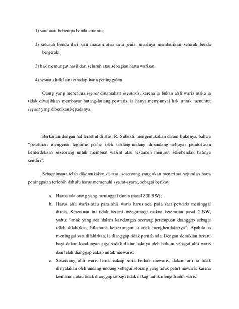 format surat keterangan warisan contoh surat pembagian warisan islam