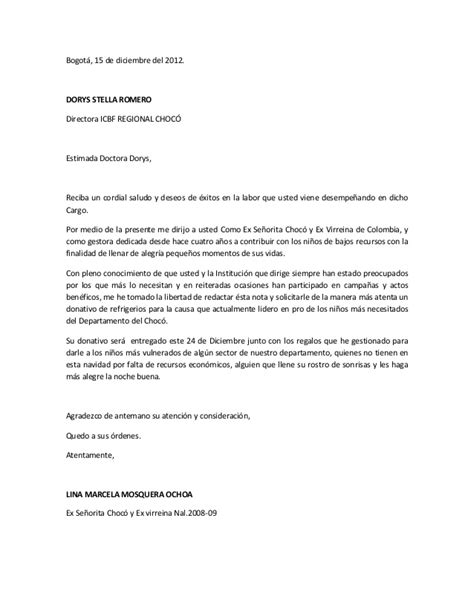 carta solicitud de notas carta solicitud refrigerios icbf