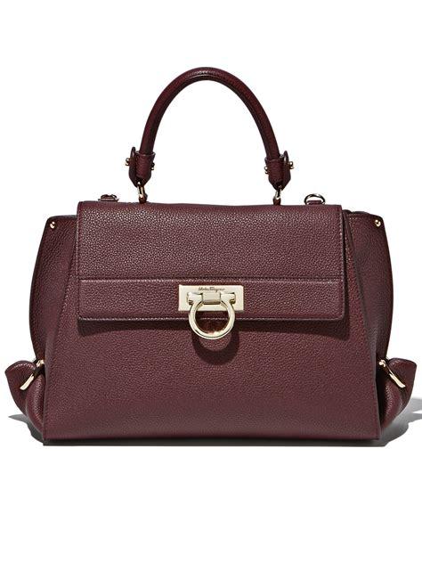 Salvatore Ferragamo Tote 5in1 ferragamo sofia grained leather medium bag in brown