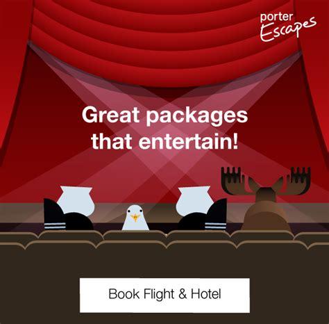 book flights porter airlines