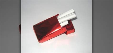 How To Make A Paper Cigarette - how to origami a cigarette packet 171 origami wonderhowto